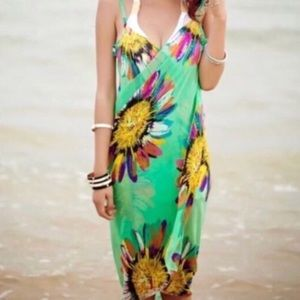 Other - green BEACH cover up bathing suit wrap DRESS swim